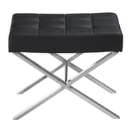 Sunpan Modern Mercer Faux Leather Bench; Black