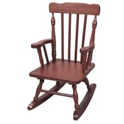 Gift Mark Child's Rocking Chair; Cherry