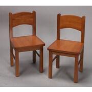 Gift Mark Kid's Chair (Set of 2); Honey