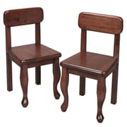 Gift Mark Queen Anne Child's Chair (Set of 2); Cherry
