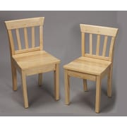 Gift Mark Ladderback Kid's Chair (Set of 2); Natural