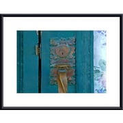 Printfinders Brass Door Handle by John K. Nakata Framed Photographic Print; Black