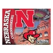 Holland Bar Stool NCAA Printed Canvas; Nebraska