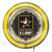 Holland Bar Stool US Armed Forces 15'' Double Neon Ring Logo Wall Clock; Army