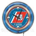 Holland Bar Stool US Armed Forces 15'' Double Neon Ring Logo Wall Clock; Coast Guard
