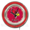Holland Bar Stool NCAA 15'' Double Neon Ring Logo Wall Clock; Illinois State