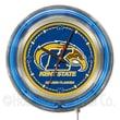 Holland Bar Stool NCAA 15'' Double Neon Ring Logo Wall Clock; Kent State