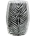 Oriental Furniture Zebra Leaf Porcelain Garden Stool