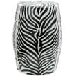 Oriental Furniture Zebra Leaf Porcelain Garden Stool