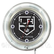 Holland Bar Stool NHL 15'' Double Neon Ring Logo Wall Clock; Los Angeles Kings