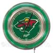 Holland Bar Stool NHL 15'' Double Neon Ring Logo Wall Clock; Minnesota Wild