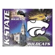 Holland Bar Stool NCAA Printed Canvas; Kansas State