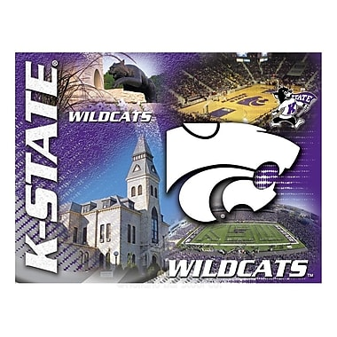 Holland Bar Stool NCAA Graphic Art on Canvas; Kansas State
