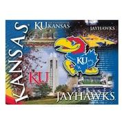 Holland Bar Stool NCAA Graphic Art on Canvas; Kansas