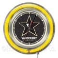 Holland Bar Stool NCAA 15'' Double Neon Ring Logo Wall Clock; Vanderbilt