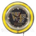 Holland Bar Stool NCAA 15'' Double Neon Ring Logo Wall Clock; Wake Forest