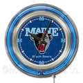 Holland Bar Stool NCAA 15'' Double Neon Ring Logo Wall Clock; Maine