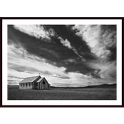 Printfinders 'Small Country Church in Grass Field' by Darren Greenwood Framed Photographic Print