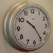 Bai Design 12.7'' School Wall Clock; Silver
