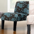 DHI Deco Rose Side Chair; Blue Rose