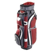 Hunter Golf Storm Cart Bag; Charcoal/Red/White