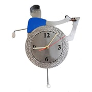 H & K SCULPTURES Golf  Pendulum Clock