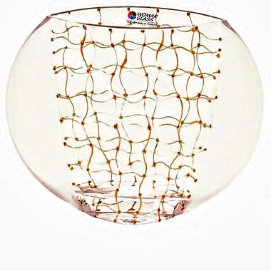 Womar Glass Web of Intrique Vase