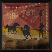The Artwork Factory Under The Big Top Part 3 Framed Graphic Art; Red