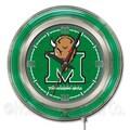 Holland Bar Stool NCAA 15'' Double Neon Ring Logo Wall Clock; Marshall