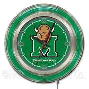 Holland Bar Stool NCAA 15'' Double Neon Ring Logo Wall Clock; Marshall