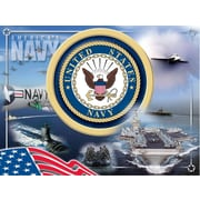 Holland Bar Stool US Armed Forces Graphic Art on Wrapped Canvas; Navy