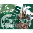 Holland Bar Stool NCAA Printed Canvas; Michigan State