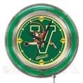 Holland Bar Stool NCAA 15'' Double Neon Ring Logo Wall Clock; Vermont