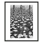 Frames By Mail 'Three Worlds' by M.C. Escher Framed Painting Print