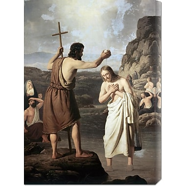 Global Gallery 'Baptism of Jesus' by Johan Peter Raadsig Painting Print on Wrapped Canvas