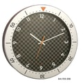 Bai Design 14.5'' Speedmaster Wall Clock; Silver and Black