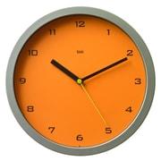 Bai Design 10'' Gotham Designer Wall Clock; Tangerine