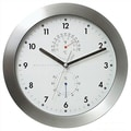 Bai Design 11'' Weather Master Weather Station Modern Wall Clock; White
