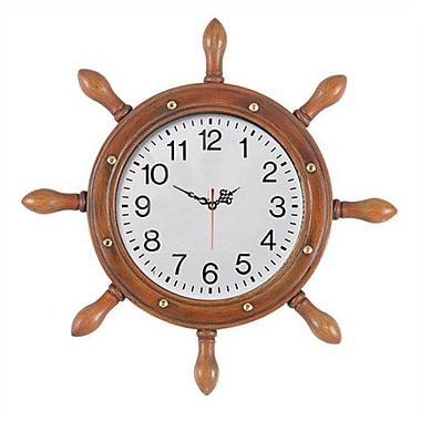 RAM Game Room Outdoor Captains Wheel Wall Clock