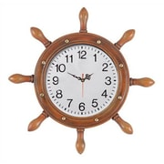 RAM Game Room Outdoor Captains Wheel Wall Clock