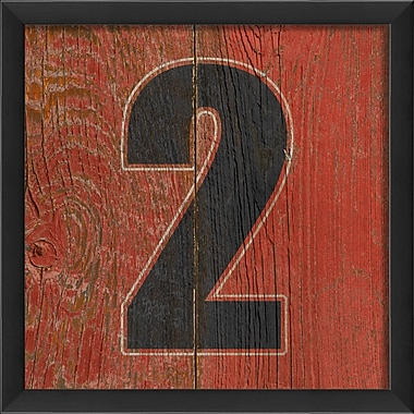 The Artwork Factory Number Two Framed Textual Art