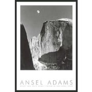 Frames By Mail 'Moon and Half Dome' by Ansel Adams Framed Photographic Print