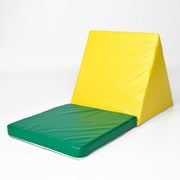 Foamnasium Sit ''N''Shape Chair; Yellow and Green