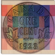 iCanvas Canada One Cent #1 Graphic Art on Canvas; 18'' H x 18'' W x 1.5'' D