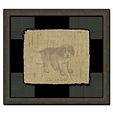 Melissa Van Hise Dog on Linen I Framed Graphic Art; Taupe