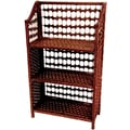 Oriental Furniture 33'' Natural Fiber Shelving Unit in Mahogany