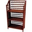 Oriental Furniture 33'' Natural Fiber Shelving Unit in Mahogany