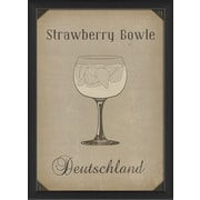 The Artwork Factory European Drinks Strawberry Bowle Framed Vintage Advertisement