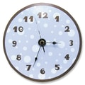 Trend Lab 11'' Polka Dots Wall Clock; Blue and Brown