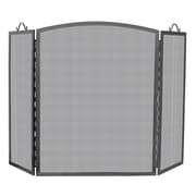 Uniflame 3 Panel Olde World Iron Arch Top Fireplace Screen; 36'' H x 56'' W x 8'' D